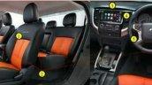 Mitsubishi Triton Athlete special edition interior features