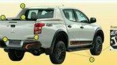 Mitsubishi Triton Athlete special edition rear angle