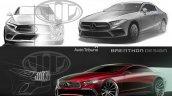 Next Gen Mercedes CLS rendering