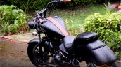 Royal Enfield Electra 350 Charcoal by Ornithopter rear left quarter