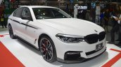2017 BMW 5 Series with BMW M Performance accessories front three quarters at 2017 Thai Motor Expo