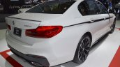 2017 BMW 5 Series with BMW M Performance accessories rear three quarters at 2017 Thai Motor Expo