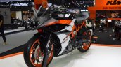 2017 KTM RC 390 front left quarter at 2017 Thai Motor Expo