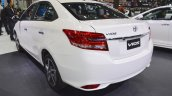 2017 Toyota Vios rear three quarters at 2017 Thai Motor Expo