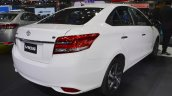 2017 Toyota Vios rear three quarters right side at 2017 Thai Motor Expo