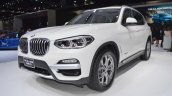 2018 BMW X3 front three quarters left side at 2017 Thai Motor Expo