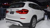 2018 BMW X3 rear three quarters right side at 2017 Thai Motor Expo