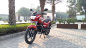 2018 Hero Super Splendor first ride review front left quarter