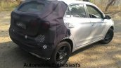 2018 Hyundai i20 facelift spied on video rear three quarters