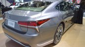 2018 Lexus LS rear three quarters at 2017 Thai Motor Expo