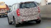 2018 Mahindra XUV500 facelift spy shot rear three quarters