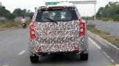 2018 Mahindra XUV500 facelift spy shot rear