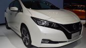 2018 Nissan Leaf front three quarters at 2017 Thai Motor Expo