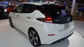 2018 Nissan Leaf rear three quarters left side at 2017 Thai Motor Expo