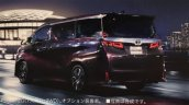 2018 Toyota Vellfire (facelift) rear three quarters leaked image