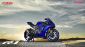 2018 Yamaha YZF-R1 Blue press right side