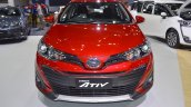 Accessorised Toyota Yaris Ativ front at 2017 Thai Motor Expo