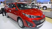Accessorised Toyota Yaris Ativ front three quarters at 2017 Thai Motor Expo