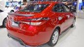 Accessorised Toyota Yaris Ativ rear three quarters at 2017 Thai Motor Expo