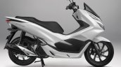 All New Honda PCX 150 White Press shot right side