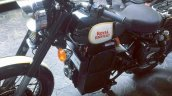 Electric Royal Enfield Classic 500 spotted front left quarter