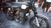 Electric Royal Enfield Classic 500 spotted front right quarter