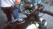 Electric Royal Enfield Classic 500 spotted instrument cluster