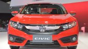 Honda Civic Red front at 2017 Thai Motor Expo - Live