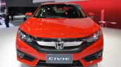 Honda Civic Red front elevated view at 2017 Thai Motor Expo - Live