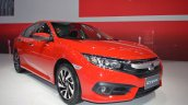 Honda Civic Red front three quarters right side at 2017 Thai Motor Expo - Live