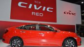 Honda Civic Red profile front three quarters at 2017 Thai Motor Expo - Live