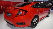 Honda Civic Red rear three quarters at 2017 Thai Motor Expo - Live