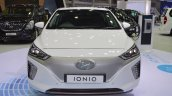 Hyundai Ioniq electric front at 2017 Thai Motor Expo