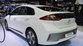 Hyundai Ioniq electric rear three quarters left side at 2017 Thai Motor Expo