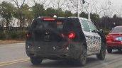 Jeep 7-seat SUV rear three quarters spy shot