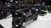 Kawasaki Ninja 400 Black front left quarter at 2017 Thai Motor Expo