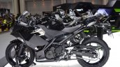 Kawasaki Ninja 400 Black left side at 2017 Thai Motor Expo