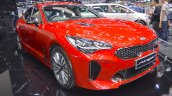Kia Stinger front three quarters at 2017 Thai Motor Expo