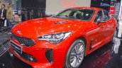 Kia Stinger front three quarters left side at 2017 Thai Motor Expo