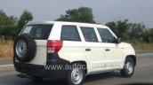Mahindra TUV300 Plus P4 rear three quarters spy shot