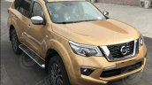 Nissan Terra (Nissan Navara-based) front three quarters spy shot
