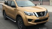 Nissan Terra front three quarters spy shot