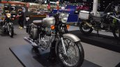 Royal Enfield Classic 500 Gunmetal Grey front right quarter at 2017 Thai Motor Expo