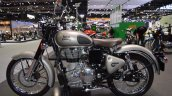 Royal Enfield Classic 500 Gunmetal Grey left side at 2017 Thai Motor Expo