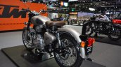 Royal Enfield Classic 500 Gunmetal Grey rear left quarter at 2017 Thai Motor Expo