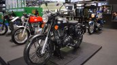 Royal Enfield Classic 500 Stealth Black front left quarter at 2017 Thai Motor Expo