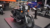 Royal Enfield Classic 500 Stealth Black front right quarter at 2017 Thai Motor Expo