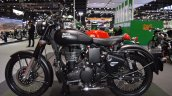 Royal Enfield Classic 500 Stealth Black left side at 2017 Thai Motor Expo