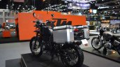 Royal Enfield Himalayan FI rear left quarter at 2017 Thai Motor Expo