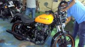 Royal Enfield Thunderbird 500X Orange spied right side